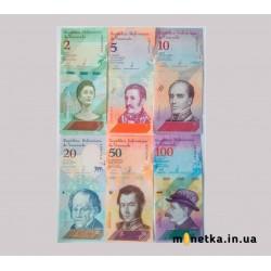 Венесуэла набор банкнот (2 5 10 20 50 100 200 500) 2018г. UNC