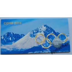 Набор 4 монеты 25 рублей и бона 100 рублей Олимпиада Сочи 2014 в альбоме