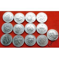 Набор 1 рубль Приднестровье Знаки зодиака 13 монет одним лотом