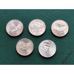 Набор 5 центов США путешествие Льюиса и Кларка на Запад и покупка Луизианы 5 монет одним лотом
