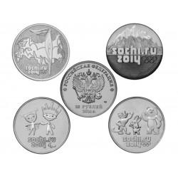 Набор 25 рублей Сочи 2014 набор из 4 монет