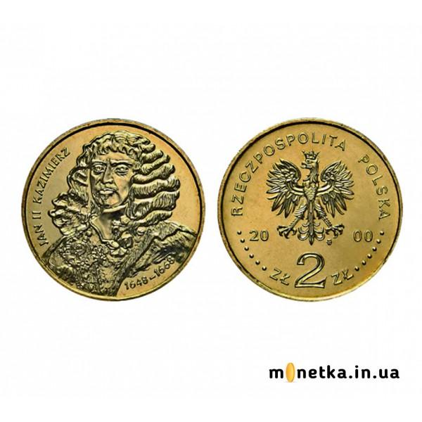 Польша 2 злотых 2000, Ян II Казимир