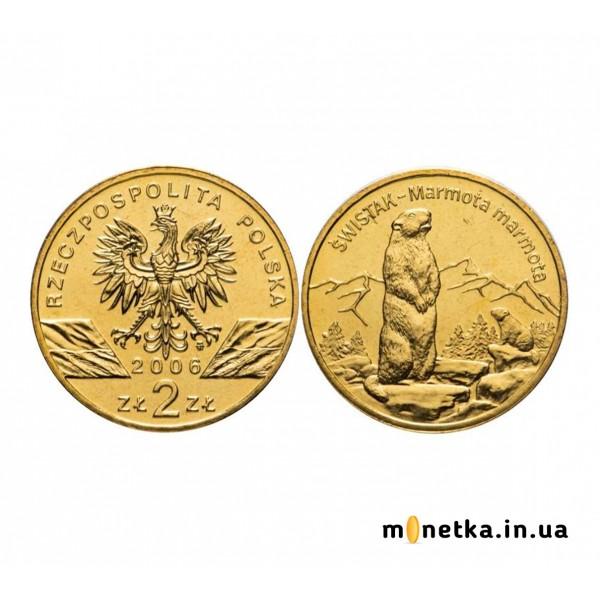 Польша 2 злотых 2006, сурок