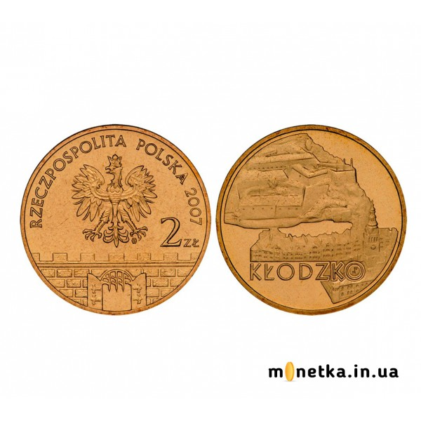 2 злотых 2007 Клодзко, Польша