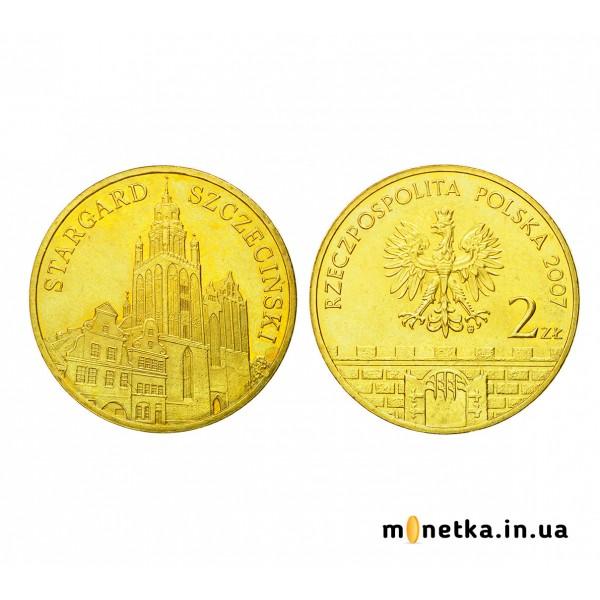 """Польша 2 злотых 2007, """"Старгард Щециньски"""""""