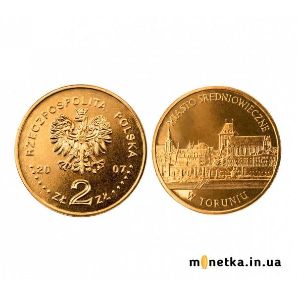 Польша 2 злотых 2007, «Средневековый город Торунь»