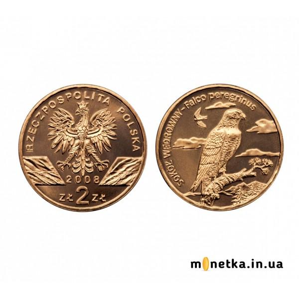 """Польша 2 злотых 2008, """"Сокол"""""""
