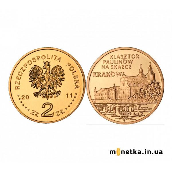 """2 злотых Польша 2011, """"Города Польши - Краков"""""""