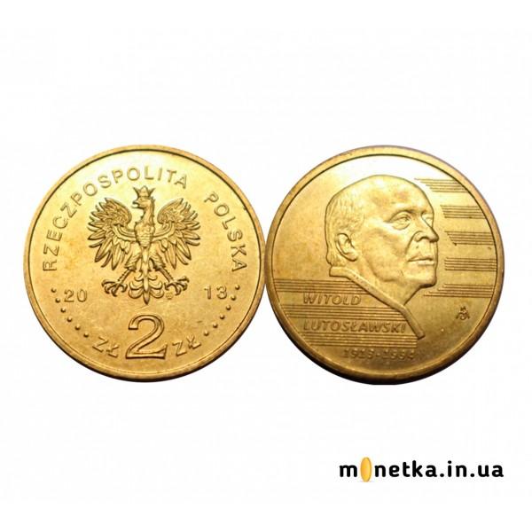 Польша 2 злотых 2013, 100 лет со дня рождения Витольда Лютославского
