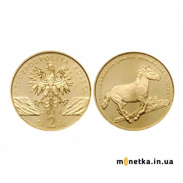 Польша 2 злотых 2014, Животный мир - Польский коник