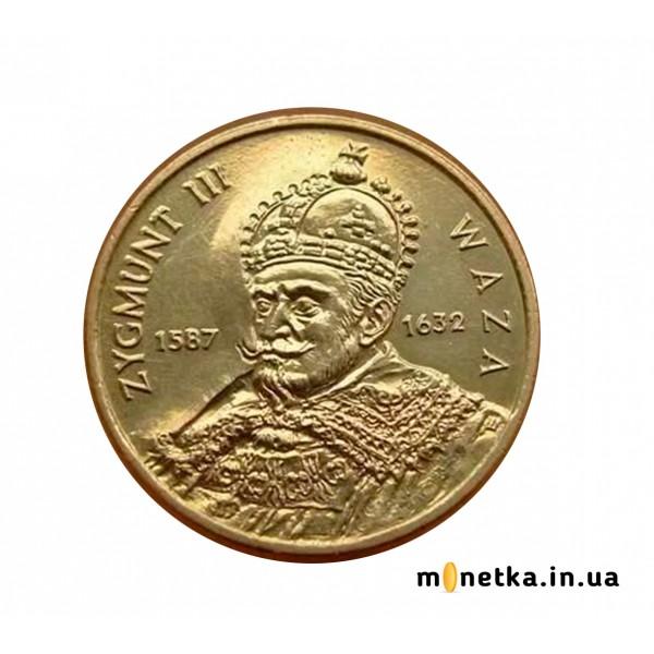 Монета 2 злотых 1998 Король Сигизмунд III, Польша