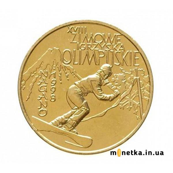Польша 2 злотых 1998 спорт, зимние ОИ в Нагано, Олимпиада