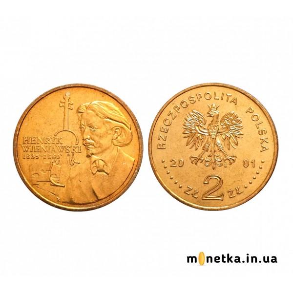 Польша 2 злотых 2001, музыка Венявский