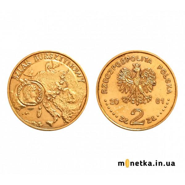 Польша 2 злотых 2001, Янтарный путь монета Нерона