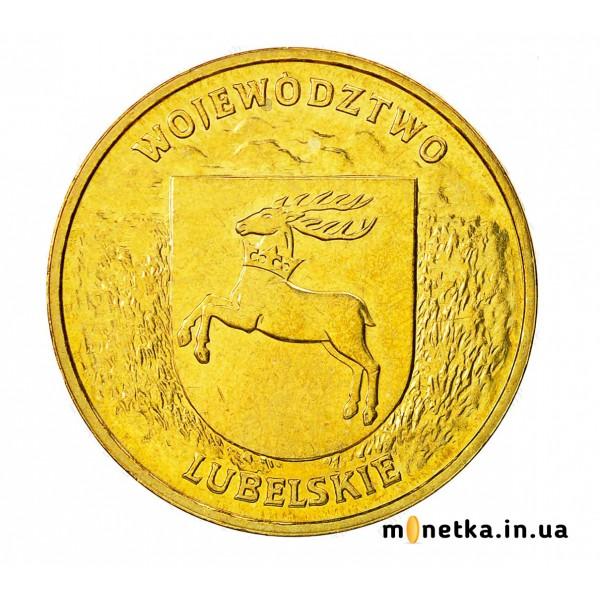 """Польша 2 злотых 2004, """"Люблинское воеводство"""""""