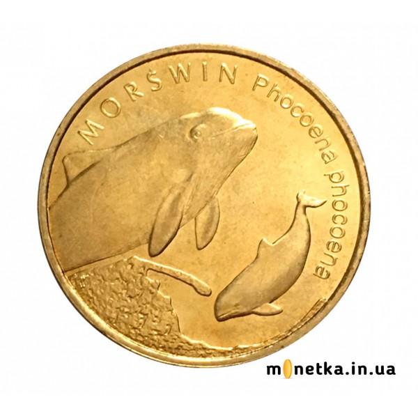 Польша 2 злотых 2004, морская свинка