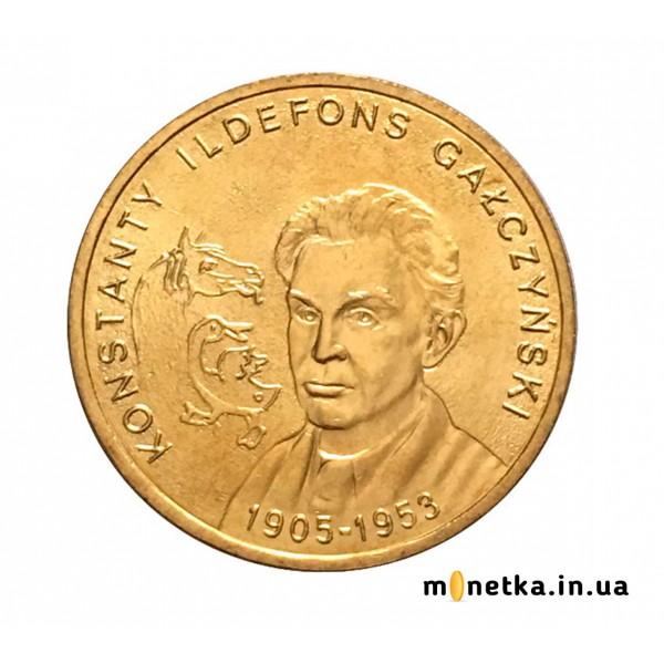Польши 2 злотых 2005, 100-летие со дня рождения Константина Ильдефонс Галчинского (1905-1953)