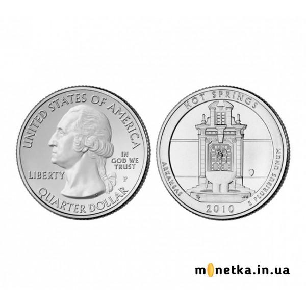 США 25 центов 2010, 1 парк, Нацпарк Хщт-Спрингс