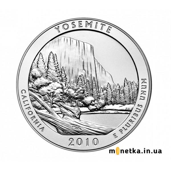 США 25 центов 2010, 3 Парк Йосемитский, Национальный парк