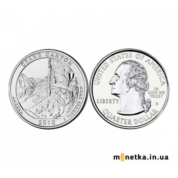 США 25 центов 2010, 4 парк Национальный парк, Гранд-Каньон