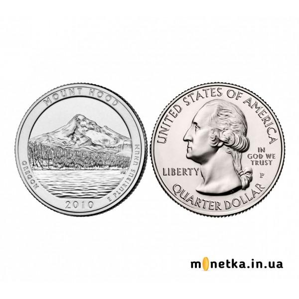 США 25 центов 2010, 5 парк, Национальный лес, Маунт-Худ