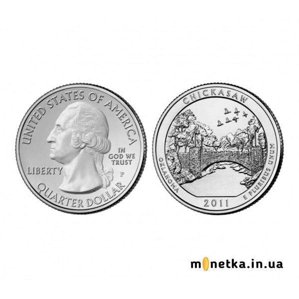 США 25 центов 2011, 10 парк Рекреационная зона Чикасо, штат Оклахома