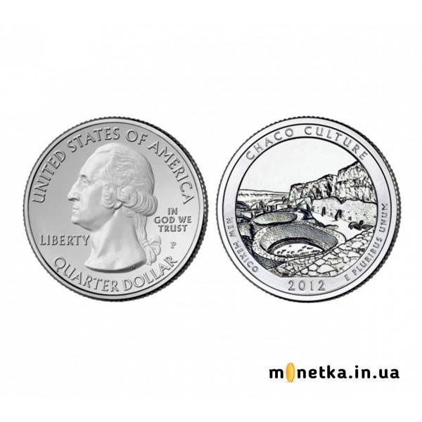 США 25 центов 2012, 12 парк, Национальный Исторический парк Чако, штата Нью-Мексико