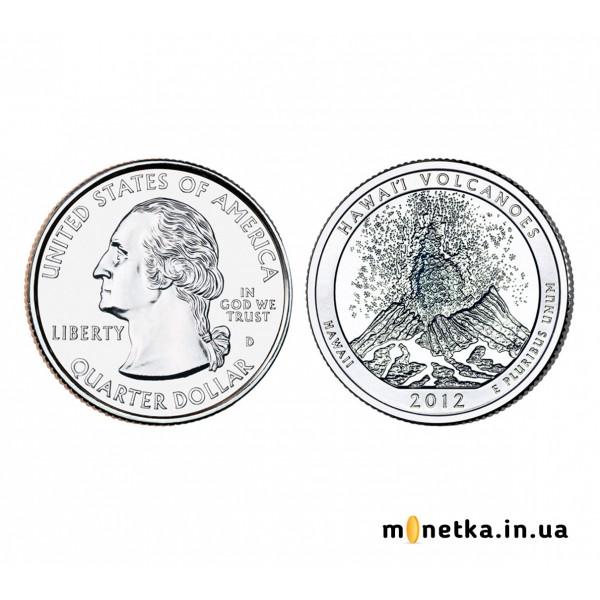 США 25 центов 2012, 14 парк, Национальный парк Хавайо-Волкейнос, штата Гавайи