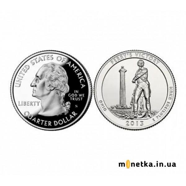 США 25 центов 2013, 17 парк, Международный Мемориал Мира, штат Огайо