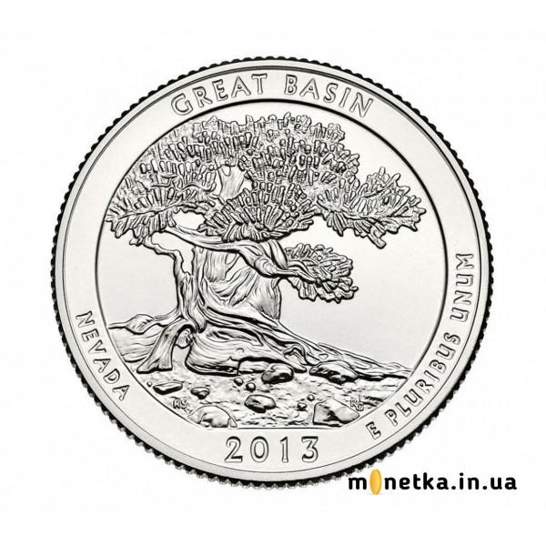 США 25 центов 2013, 18 парк Национальный парк Грейт-Бейсин, штат Невада