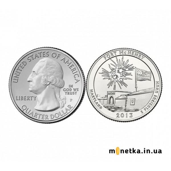 США 25 центов 2013, 19 парк, Форт Мак-Генри, штат Мэриленд
