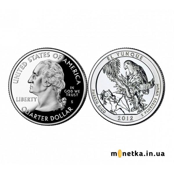 США 25 центов, Квотер, 11 парк, Эль-Юнке UNC 2012