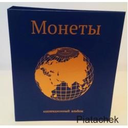 Альбом папка формат  Оптима для современных монет монеты мира альбом для монет