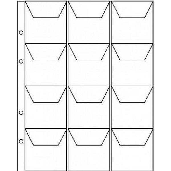 Лист формат Optima Оптима 12 ячеек с карманами 55х55