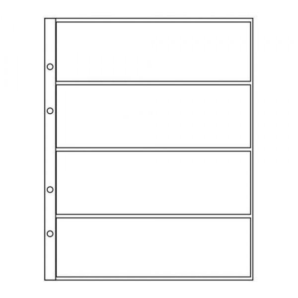 Лист формат Optima (Оптима) под 4 боны лист для бон