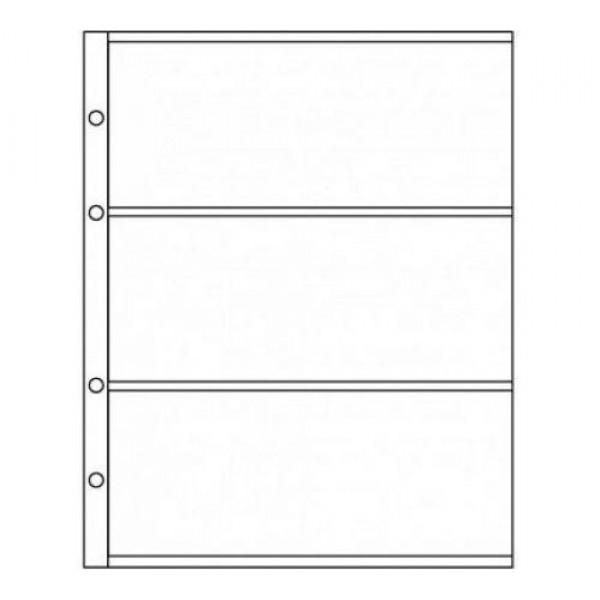 Лист формат Optima (Оптима) под 3 боны лист для бон