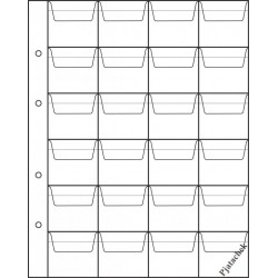 Лист формата Optima Оптима 24 ячейки с карманами 33х43 лист для монет лист на 24 ячейки