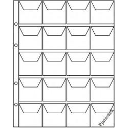 Лист Optima Оптима 20 ячеек с карманами 44х44 для монет лист на 20 ячеек