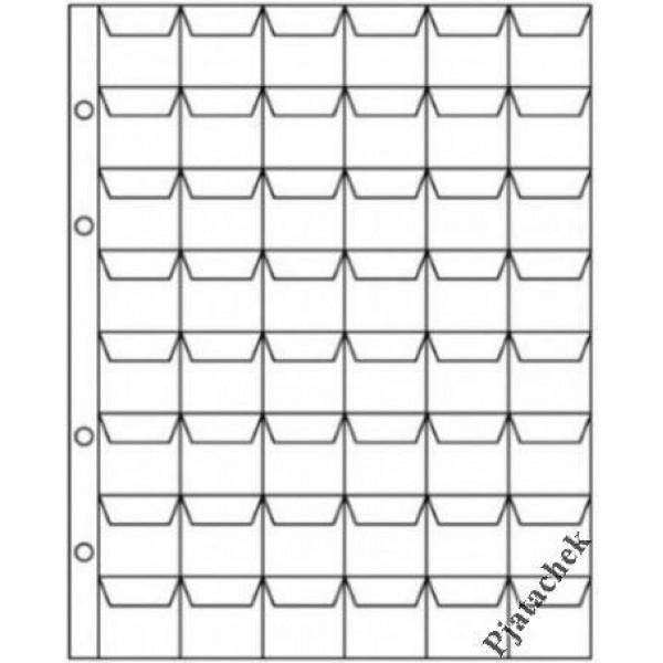 Лист Optima Оптима 48 ячеек с карманами 26х26 лист для монет лист на 48 ячеек