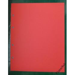 Лист вертикальный промежуточный красный 200х250 мм формат Optima Оптима разделитель